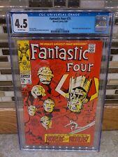 Fantastic Four #75 (Jun 1968, Marvel) Silver Surfer & Galactus CGC GRADE 4.5