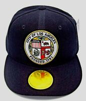 c4ccb7964f4 LOS ANGELES Snapback Cap Hat LA City Caps Hats Black OSFM Adjustable NWT