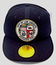 LOS ANGELES Snapback Cap Hat LA City Caps Hats Black OSFM Adjustable NWT