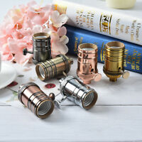 e26/e27 retro vintage antique aluminum copper lamp light bulb holder socket H Lz