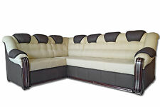 Corner Sofabed + Storage, Real Italian Leather,left or right,can be customised