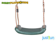 SWING SEAT GREEN Plastic Set With Rope Accessories Playground  Outdoor Kids