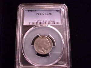 1915-S Buffalo Nickel, PCGS AU 58, looks very nice!!