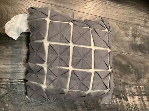 "anthology Joli grey square pillow 14""x14"" new"