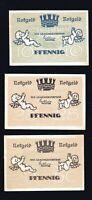 3x Notgeld der Gemeinde STEINHEID (Landkreis Sonneberg) Thüringwn10,25,50 Pf