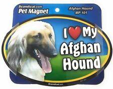 I Love My Afghan Hound Afghan Dog Gifts, Cars, Trucks. Lockers, Refrigerator