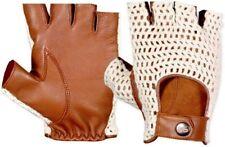 Gants Mitaine de Conduite Style Souple Coton Dos en Crochet Vintage En Cuir