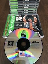 (1) WWF War Zone Sony PlayStation 1 Ps1 1998 Complete Cib