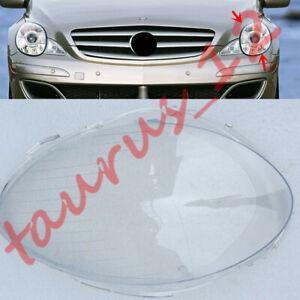 Left Side headlight Cover transparent PC+Glue For Mercedes Benz R350 R500 06-08