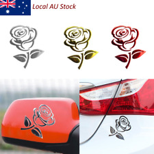 3D Cutout Rose Car Vehicle PVC Logo Reflective Car Sticker Decal Flowers Art