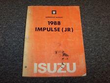 1988 Isuzu Impulse Sports Coupe Workshop Shop Service Repair Manual Book Turbo