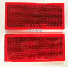 (2) Stick-On RED REFLECTORS Boat Camper Utility Trailer Dock RV Safety Signal
