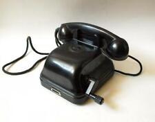 1951 Heavy Vintage Soviet Bakelite Desk Phone Telephone Rotary Dial Commutator