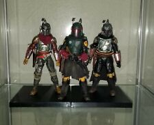 "Star Wars Custom Black Series 6"" Mandalorian Boba Fett lot of 3 armor awesome"