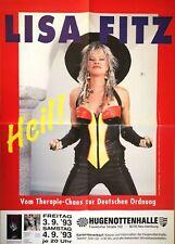 LISA FITZ 1993 NEU ISENBURG - orig.Concert Poster - Plakat A1 F/U 679