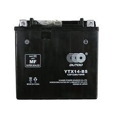 Battery YTX14-BS for Honda TRX 500 420 350 300 Suzuki Kawasaki Yamaha YFM