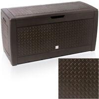 Outdoor Garden Plastic Storage Utility Chest Cushion Shed Box Garden Furniture