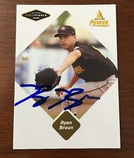 RYAN BRAUN 2005 JUST AUTOGRAPHED SIGNED AUTO BASEBALL CARD 10 ROOKIE RC