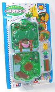 Auldey tomy Pokemon Pocket Monsters Playset w Pikachu & Nazonokusa CHIBI RARE