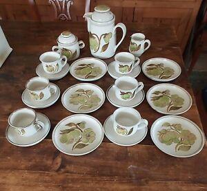 DENBY TROUBADOUR 21 PIECE TEA SET