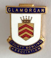 Glamorgan County Bowling Association Club Badge Pin Rare Vintage (M18)