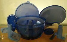 Tupperware Quick Chef * 8 Teile * blau * Neuwertig