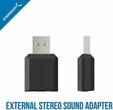 Sabrent USB External Stereo Sound Adapter Windows Mac Plug and Play No Drivers