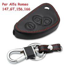 1 cover guscio in pelle per chiave telecomando 3 tasti Alfa Romeo 147 GT 156 166