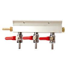3 Way Compressed Gas Manifold - Gas Line Splitter - Multi Keg Set Up - Homebrew