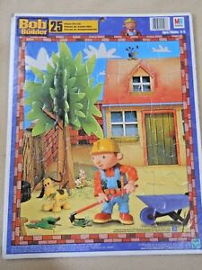 Large 25 piece 2002 Milton Bradley BOB THE BUILDER tray puzzle /Educational toy