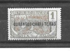 UBANGI-SHARI Stamps-Scott # 1/A1-1c-Mint/LH-1915-22-Overprinted-OG