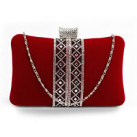 Bridal Beaded Clutch bag Fancy Lace With Diamante Luxury Evening Handbag New