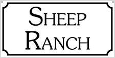 Sheep Ranch- 6x12 Aluminum Farm Livestock man cave sign