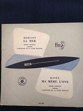 DEBUSSY: LA MER + Ravel: Ma Mere L'Oye  1953 Decca LP LXT2632  Ernest Ansermet