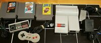 Nintendo ORIGINAL TOP LOADER Console System Bundle Super Mario 1 2 3 NICE Tested
