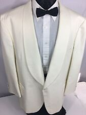 YSL Yves Saint Laurent White TuX Sport Coat Formal SHAWL Collar PROM Jacket 44 R
