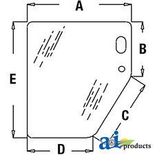 John Deere Parts GLASSLH LOWER DOOR WINDO  T133336  710D, 510D, 410E, 410D, 315S