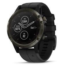 Garmin Fenix 5 плюс мультиспортивные GPS-сапфир углерода серый/черный лента 010-01988-A1