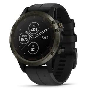 Garmin fenix 5 Plus Multisport GPS Sapphire Carbon Gray/Black Band  010-01988-A1