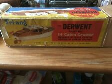 """Vintage Triang Derwent 14"""" Battery Operated Cabin Cruiser, Boxed, Used"""