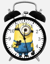 "Minions Alarm Desk Clock 3.75"" Room Decor E47 Nice for Gifts, A+ Quality"