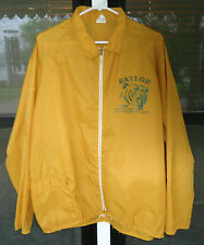 VINTAGE BAYLOR BEARS 1980 SWC FOOTBALL CHAMPS Wind Breaker JACKET GOLD