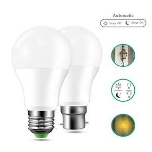 E27 B22 LED Sensor Bulb Lamp 10W 15W Dusk To Dawn Lamp Lights Indoor Outdoor