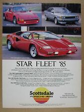 1985 Lamborghini Countach 5000S Porsche 930S Treser Audi Turbo vintage print Ad