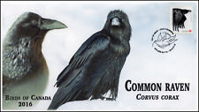 CA16-030 2016, FDC, Birds of Canada, Day of Issue, Common Raven
