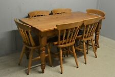 Solid Pine Dining table with six beech chairs delivery available