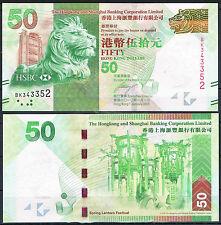 HONG KONG - HSBC   50 DOLARES 2010 Pick -  SC  UNC