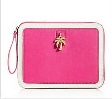 JUICY COUTURE PINK LENI CHARM WRISTLET IPAD ZIP CASE ORG. $128.00 BNWT