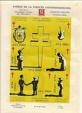 TIMBRE SPANISH ESPAGNE VIGNETTE / AMIGOS DE LA VINETA ANTITUBERCULOSA - 1960