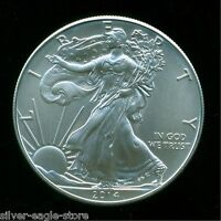 2014 SILVER AMERICAN EAGLE UNCIRCULATED $1 OZ .999 FINE BULLION DOLLAR OUNCE UN1